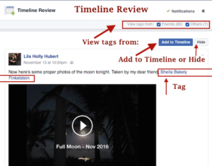 Tags on Facebook timeline review - http://technologyforboomers.com